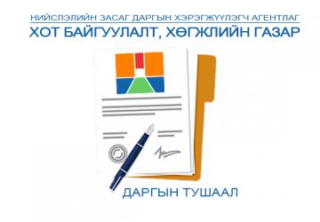 Газрын даргын A тушаалын бүртгэл /2021 он/